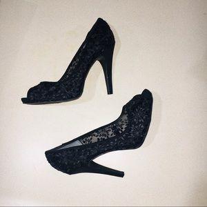 Nine West Black Stilettos Size 9 Wide